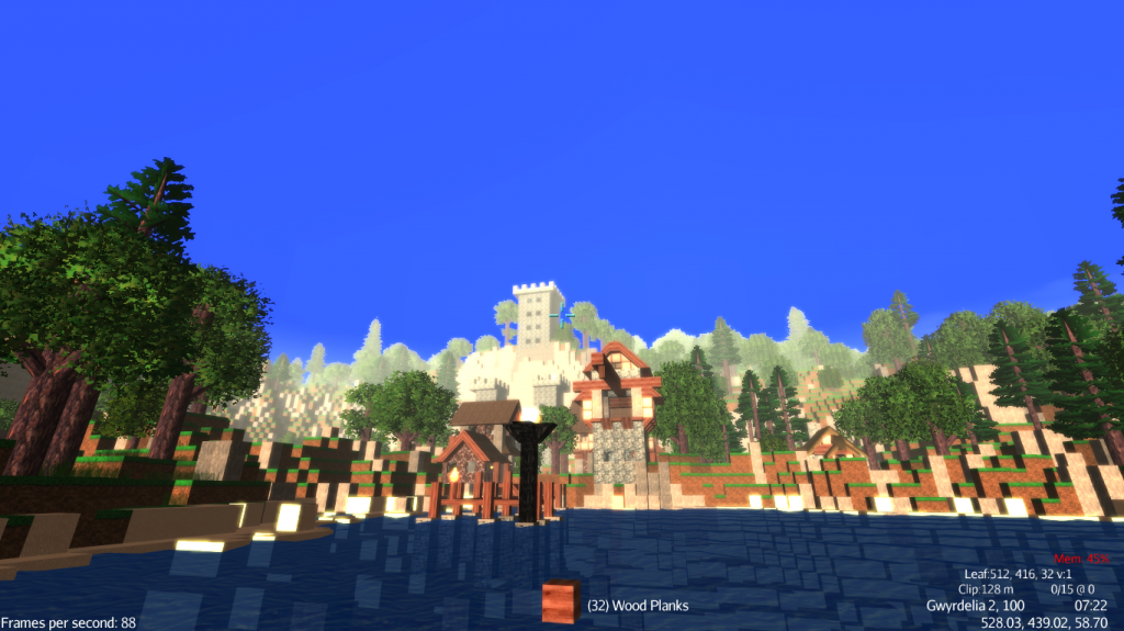 This is a picture of the town near the Mythruna spawnpoint