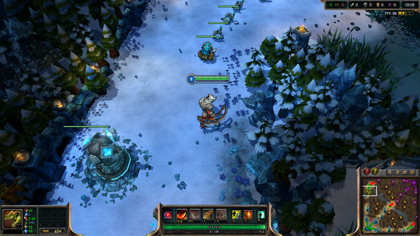A picture I took of my Summoner's Rift with Snow Rift installed