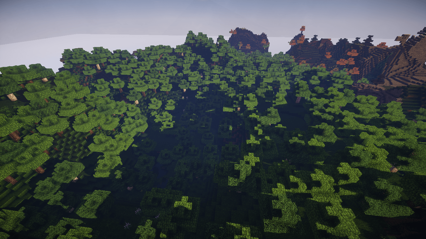 Minecraft world without snow