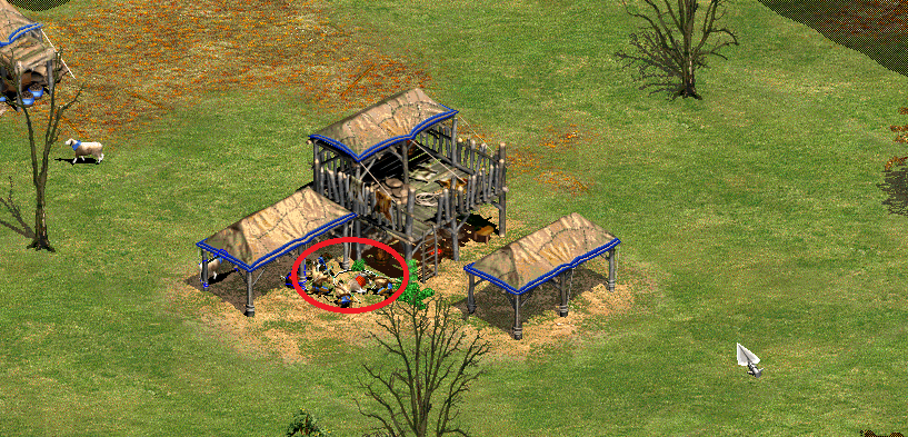 Age of Empires - Animals under Town Centre