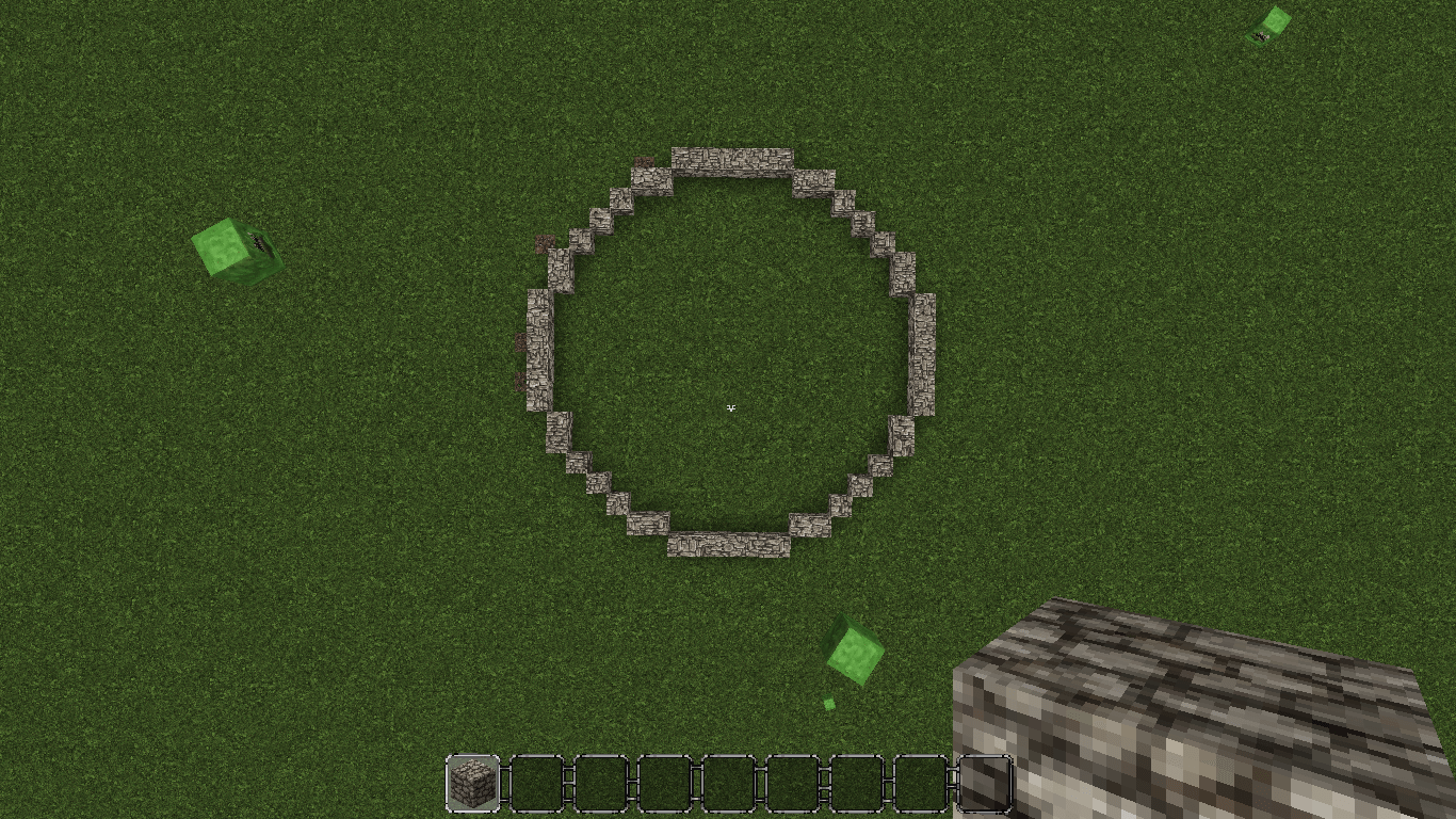 Recreating the circle in Minecraft